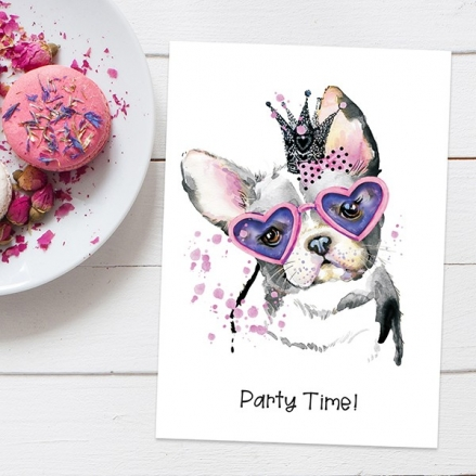 Ready To Write Childrens Birthday Invitations - Puppy Princess - Pack of 10