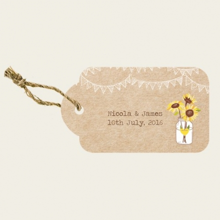Rustic Sunflowers - Favour Tags