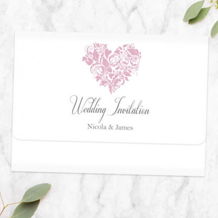 Ornate-Heart-Tri-Fold-Wedding-Invitation-&-RSVP