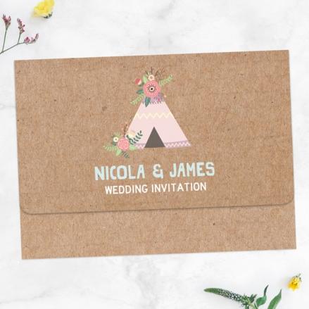 Festival-Teepee-Tri-Fold-Wedding-Invitation-&-RSVP
