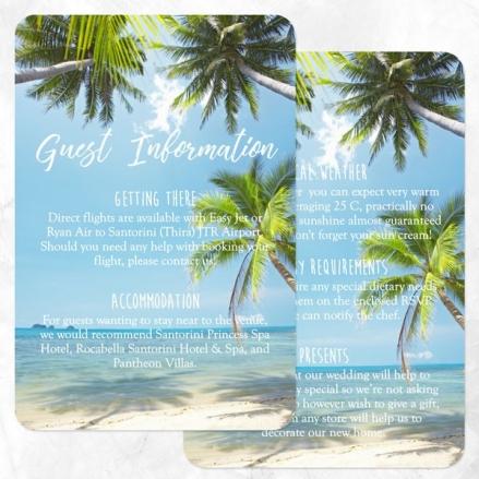 Tropical Beach Scene - Guest Information
