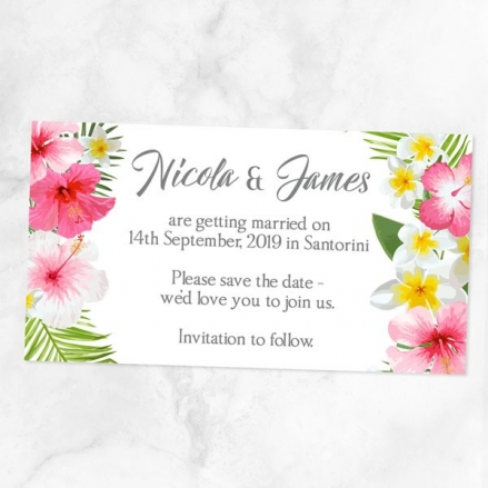 Tropical Floral Palm - Save the Date Magnets
