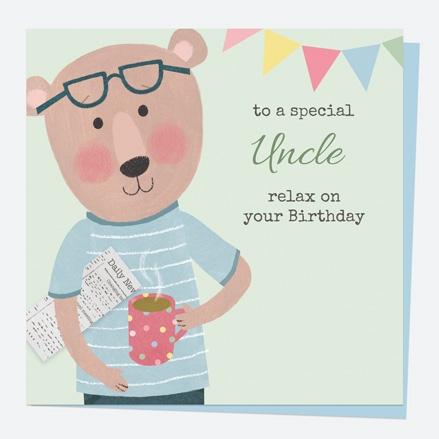 Uncle Birthday Card - Dotty Bear - Mug - Birthday Special Uncle