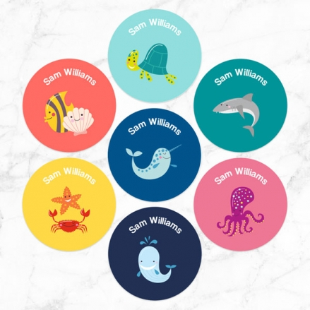 Under the Sea - Personalised Kids Stickers - Pack of 35