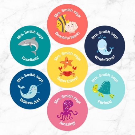 Under the Sea - Teacher Stickers - Pack of 35