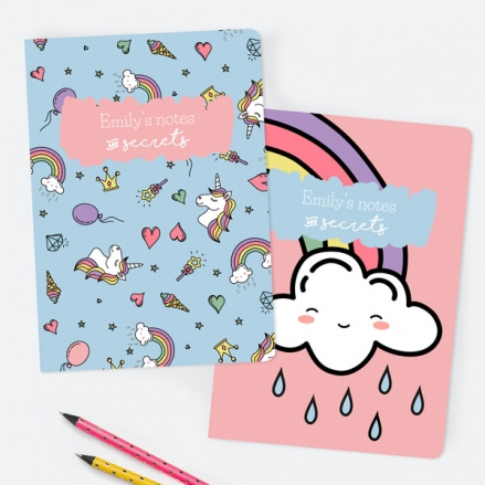 Unicorn-Dreams-Personalised-A5-Exercise-Books-Pack-of-2