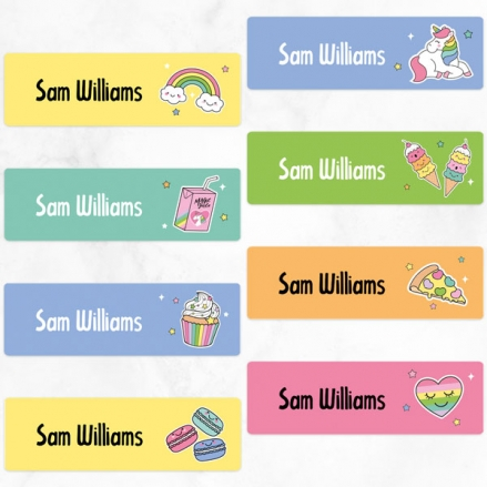 Unicorn Fun - Personalised Kids Stickers - Pack of 32