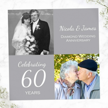 60th Wedding Anniversary Invitations - Use Your Own Photo
