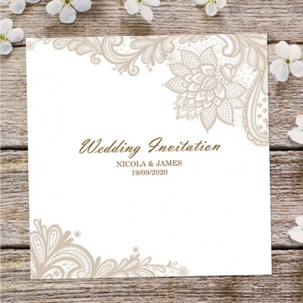 Victorian Lace - Wedding Invitations