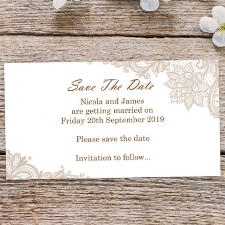Victorian Lace - Save the Date Magnets