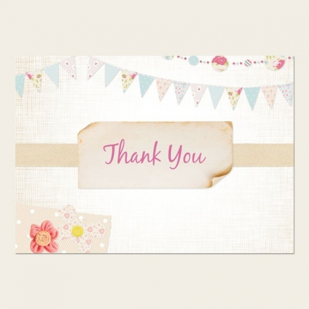 Thank You Cards - Vintage Bunting