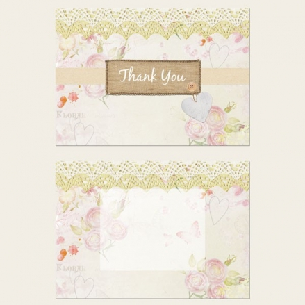 Ready to Write Thank You Cards - Vintage Country Garden