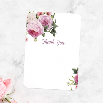 Anniversary Thank You Cards - Vintage Flowers