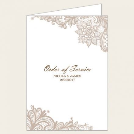 Victorian Lace - Wedding Order of Service