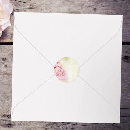 Vintage Peony - Wedding Envelope Seals