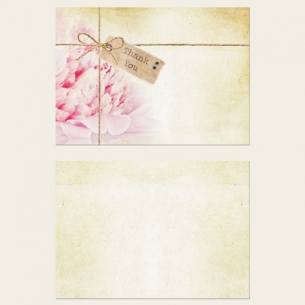 Ready to Write Thank You Cards - Vintage Peony