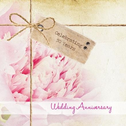 50th Wedding Anniversary Invitations - Vintage Peony