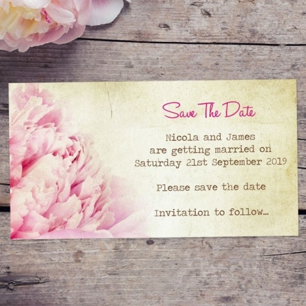 Vintage Peony - Save the Date Magnets