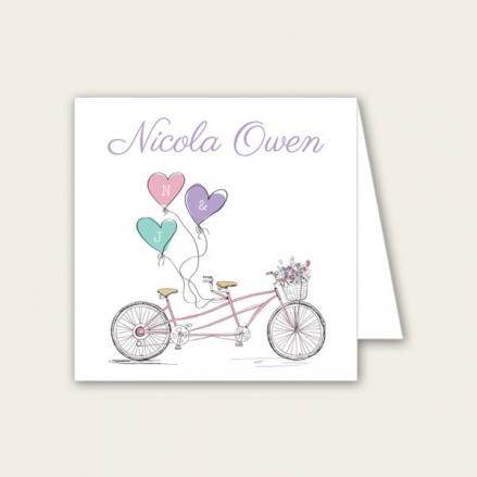 Tandem Love - Wedding Place Cards