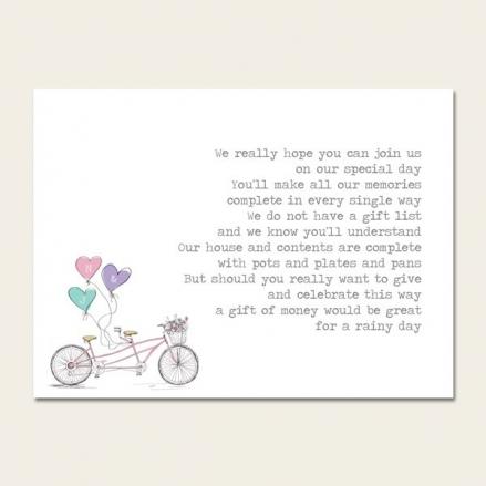 Tandem Love - Gift Poem Cards