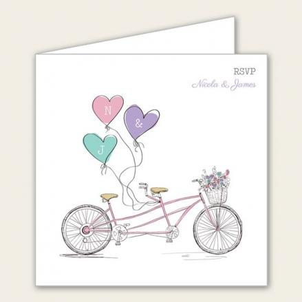 Tandem Love - Wedding RSVP Cards