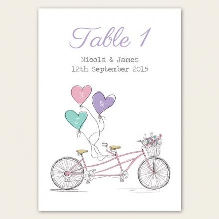 Tandem Love - Table Name/Number