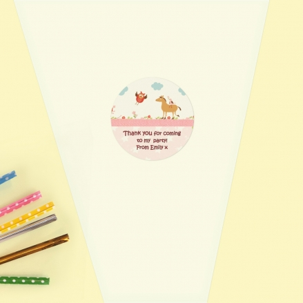 Vintage Pony - Sweet Cone Bag & Sticker - Pack of 35