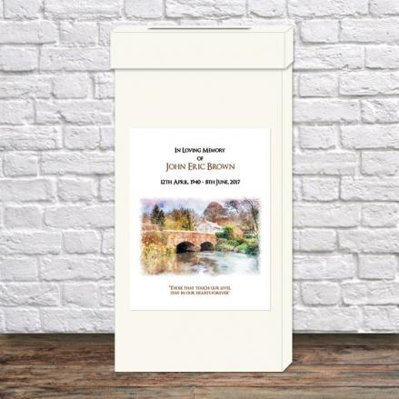 Funeral Post Box - Watercolour River Scene