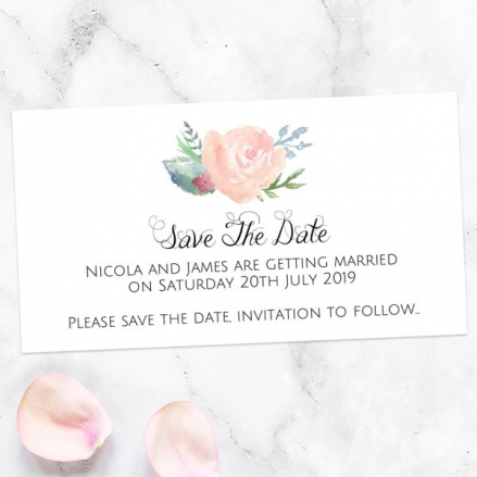 Watercolour Roses - Save the Date Magnets
