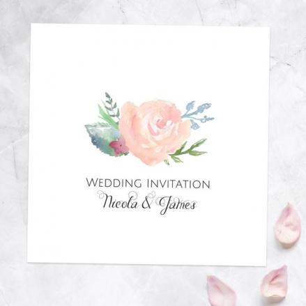 Watercolour Roses - Wedding Invitations