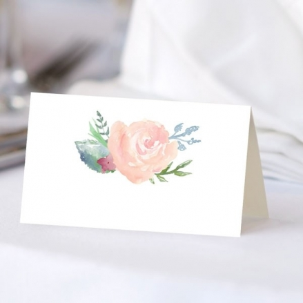 Watercolour Roses - Ready to Write Wedding Place Cards