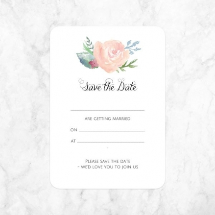 Watercolour Roses - Ready to Write Save the Date Cards