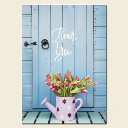 Thank You Cards - Watering Can & Tulips