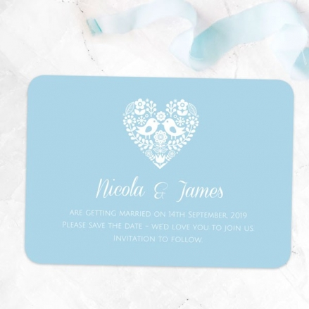 Bohemian Love Birds - Save the Date Cards