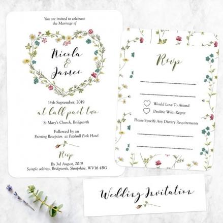 Botanical Heart - Boutique Wedding Invitation & RSVP