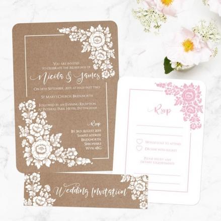 Romantic Flowers - Boutique Wedding Invitation & RSVP