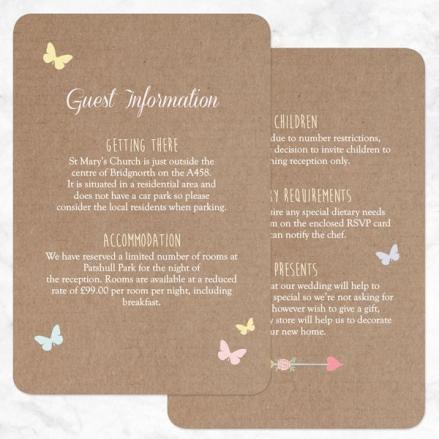 Rustic Pastel Butterflies - Guest Information