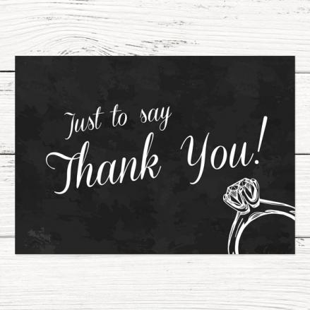 Thank You Cards - Chalkboard Diamond Ring