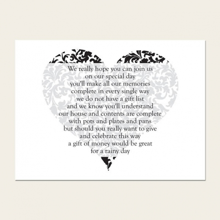 Heart Pattern - Gift Poem Cards