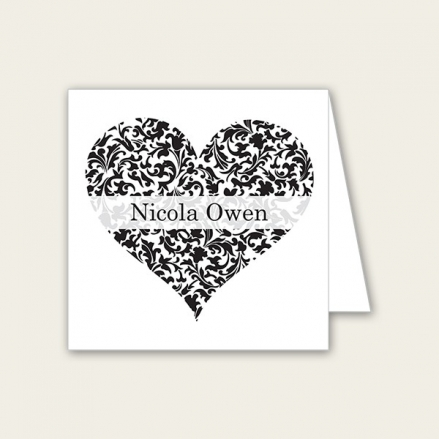 Heart Pattern - Wedding Place Cards