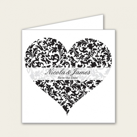 Heart Pattern - Save the Date Cards