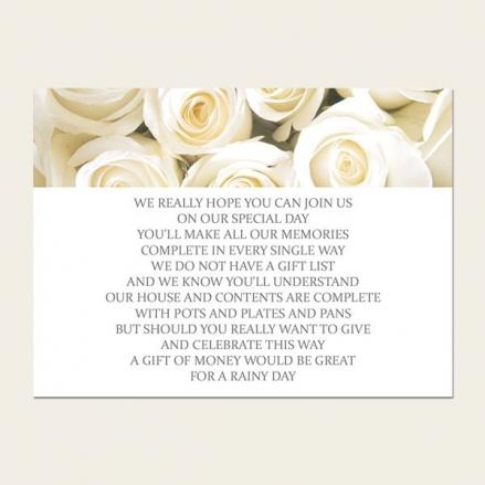Cream English Rose - Gift Poem Cards