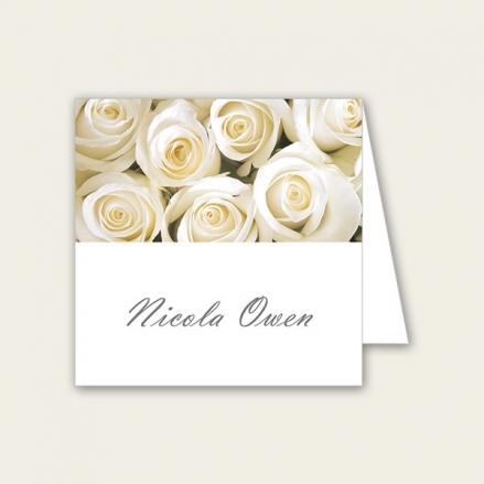 Cream English Rose - Wedding Place Cards