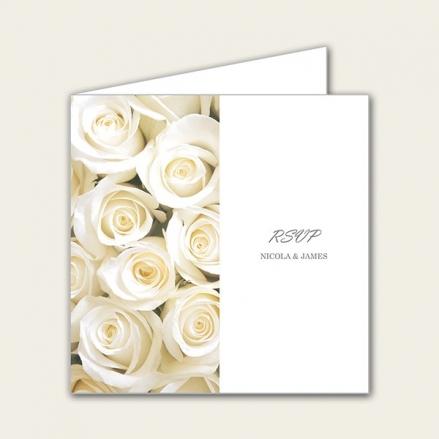 Cream English Rose - Wedding RSVP Cards