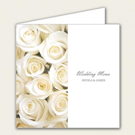 Cream English Rose - Wedding Menus