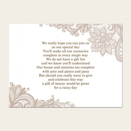 Victorian Lace - Gift Poem Cards