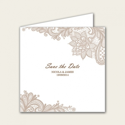 Victorian Lace - Save the Date Cards