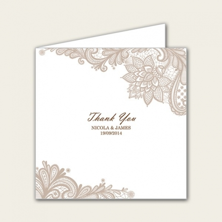 Victorian Lace - Wedding Thank You Cards