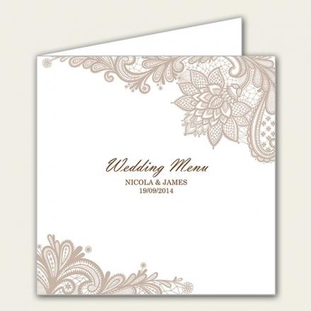 Victorian Lace - Wedding Menus