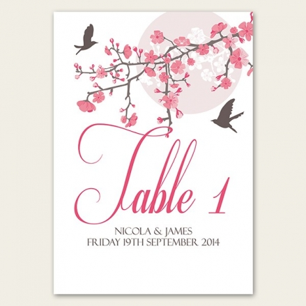 Blossoming Love - Table Name/Number
